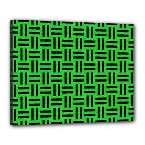 Woven1 Black Marble & Green Colored Pencil (r) Canvas 20  X 16  by trendistuff