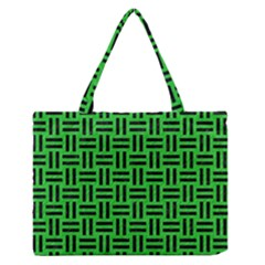 Woven1 Black Marble & Green Colored Pencil (r) Zipper Medium Tote Bag by trendistuff