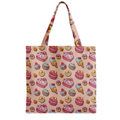 Sweet Pattern Zipper Grocery Tote Bag by Valentinaart