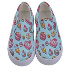 Sweet Pattern Kids  Canvas Slip Ons