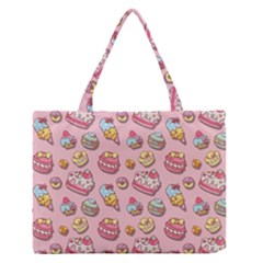 Sweet Pattern Zipper Medium Tote Bag by Valentinaart