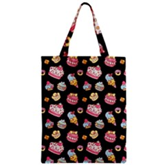 Sweet Pattern Zipper Classic Tote Bag