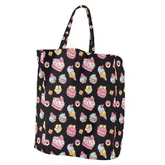 Sweet Pattern Giant Grocery Zipper Tote by Valentinaart