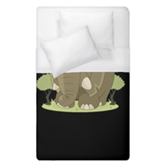 Cute Elephant Duvet Cover (single Size)