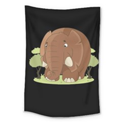 Cute Elephant Large Tapestry
