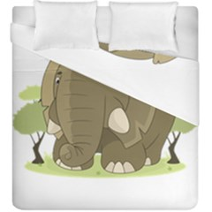 Cute Elephant Duvet Cover Double Side (king Size) by Valentinaart
