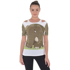 Cute Elephant Short Sleeve Top