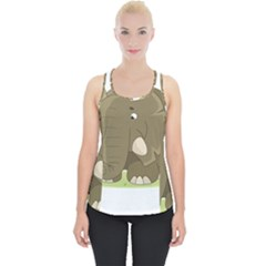 Cute Elephant Piece Up Tank Top