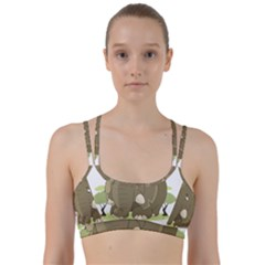 Cute Elephant Line Them Up Sports Bra by Valentinaart