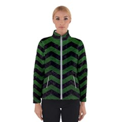 CHEVRON3 BLACK MARBLE & GREEN LEATHER Winterwear