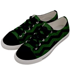 CHEVRON3 BLACK MARBLE & GREEN LEATHER Men s Low Top Canvas Sneakers