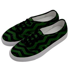 CHEVRON3 BLACK MARBLE & GREEN LEATHER Men s Classic Low Top Sneakers