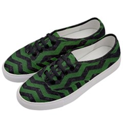 CHEVRON3 BLACK MARBLE & GREEN LEATHER Women s Classic Low Top Sneakers