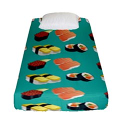 Sushi Pattern Fitted Sheet (single Size) by Valentinaart