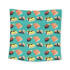 Sushi Pattern Square Tapestry (small) by Valentinaart