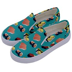 Sushi Pattern Kids  Canvas Slip Ons by Valentinaart