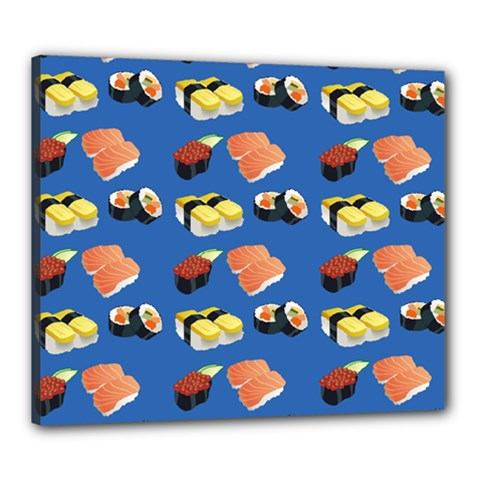 Sushi Pattern Canvas 24  X 20  by Valentinaart