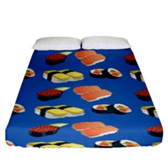 Sushi Pattern Fitted Sheet (king Size) by Valentinaart