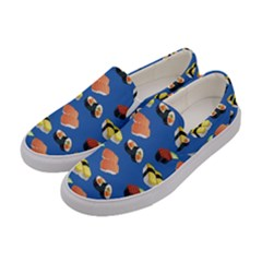 Sushi Pattern Women s Canvas Slip Ons by Valentinaart