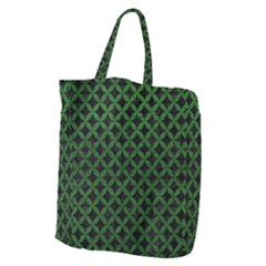 Circles3 Black Marble & Green Leather Giant Grocery Zipper Tote by trendistuff