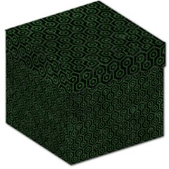 Hexagon1 Black Marble & Green Leather Storage Stool 12   by trendistuff