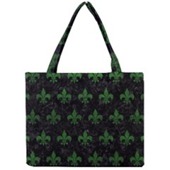 Royal1 Black Marble & Green Leather (r) Mini Tote Bag by trendistuff