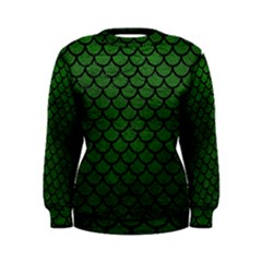 Scales1 Black Marble & Green Leather (r) Women s Sweatshirt by trendistuff