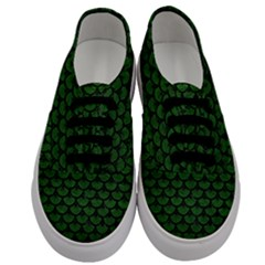 Scales3 Black Marble & Green Leather (r) Men s Classic Low Top Sneakers