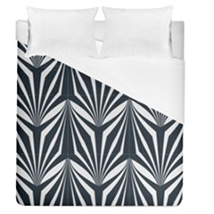 Art Deco, Black,white,graphic Design,vintage,elegant,chic Duvet Cover (queen Size) by 8fugoso