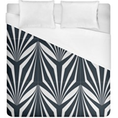 Art Deco, Black,white,graphic Design,vintage,elegant,chic Duvet Cover (king Size) by 8fugoso