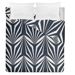 Art Deco, Black,white,graphic Design,vintage,elegant,chic Duvet Cover Double Side (queen Size) by 8fugoso