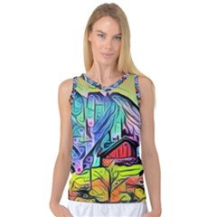 Magic Cube Abstract Art Women s Basketball Tank Top by 8fugoso