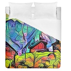 Magic Cube Abstract Art Duvet Cover (queen Size) by 8fugoso