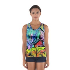 Magic Cube Abstract Art Sport Tank Top  by 8fugoso