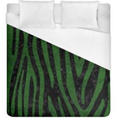 Skin4 Black Marble & Green Leather (r) Duvet Cover (king Size)
