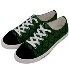 Tile1 Black Marble & Green Leather (r) Women s Low Top Canvas Sneakers by trendistuff