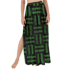 Woven1 Black Marble & Green Leather Maxi Chiffon Tie Up Sarong by trendistuff