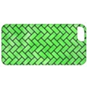 BRICK2 BLACK MARBLE & GREEN WATERCOLOR (R) Apple iPhone 5 Classic Hardshell Case View1