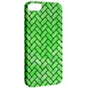 BRICK2 BLACK MARBLE & GREEN WATERCOLOR (R) Apple iPhone 5 Classic Hardshell Case View2