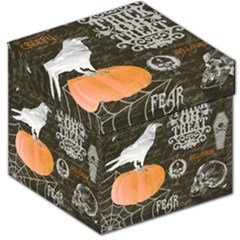Vintage Halloween Storage Stool 12