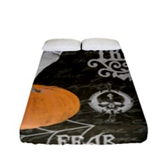 Vintage Halloween Fitted Sheet (full/ Double Size) by Valentinaart