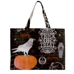 Vintage Halloween Zipper Mini Tote Bag