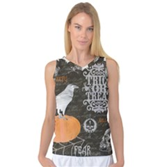 Vintage Halloween Women s Basketball Tank Top by Valentinaart