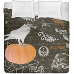 Vintage Halloween Duvet Cover Double Side (king Size)