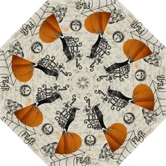 Vintage Halloween Straight Umbrellas by Valentinaart