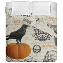 Vintage Halloween Duvet Cover Double Side (california King Size) by Valentinaart