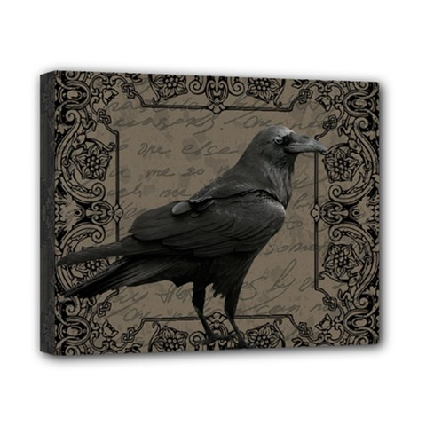 Vintage Halloween Raven Canvas 10  X 8  by Valentinaart