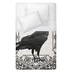 Vintage Halloween Raven Duvet Cover (single Size) by Valentinaart