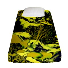 Amazing Glowing Flowers 2c Fitted Sheet (single Size) by MoreColorsinLife