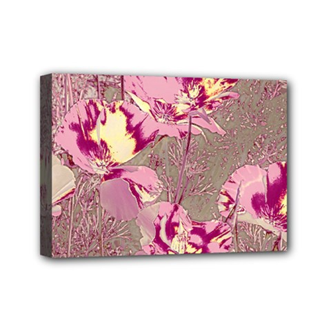Amazing Glowing Flowers 2b Mini Canvas 7  X 5  by MoreColorsinLife